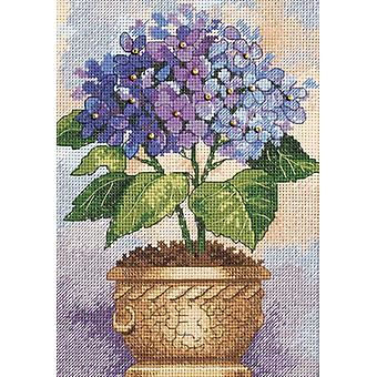 Gold Collection Petite Hydrangea In Bloom Counted Cross Stit 5