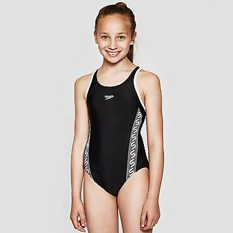 Speedo Monogram Muscleback Girl's Swimsuit