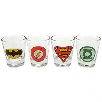 DC Comics 4pk Shot Glass Set