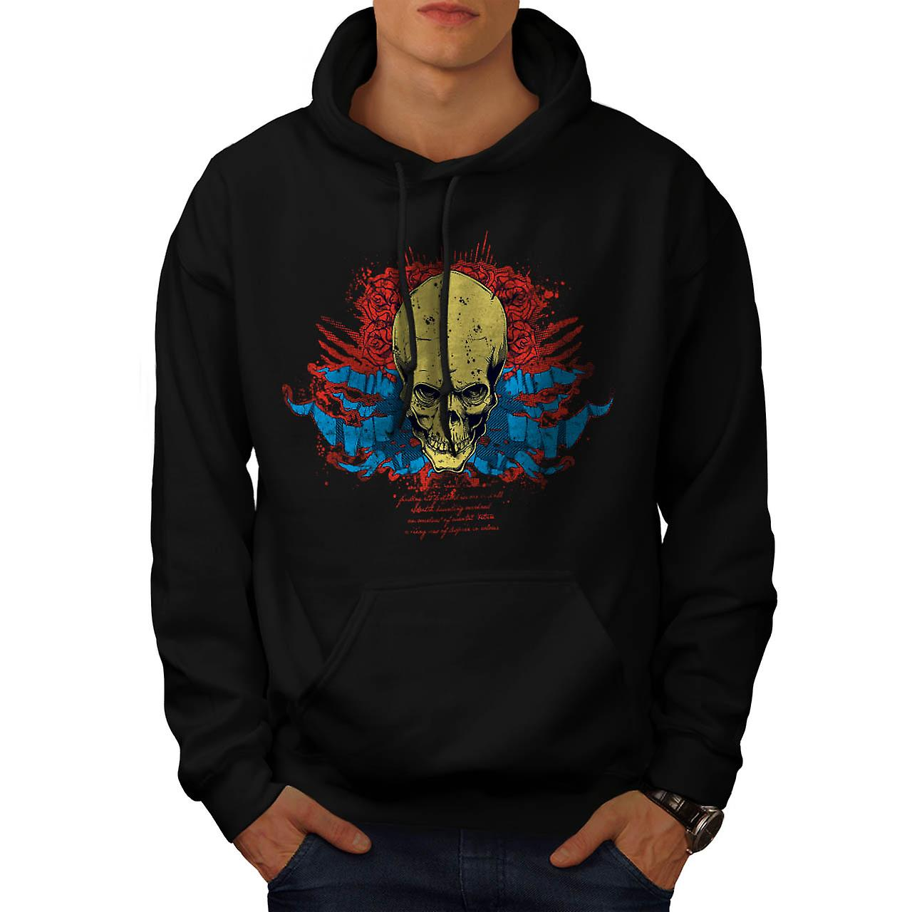 Evil Skull Head Smile Devil Zone Men Black Hoodie | Wellcoda