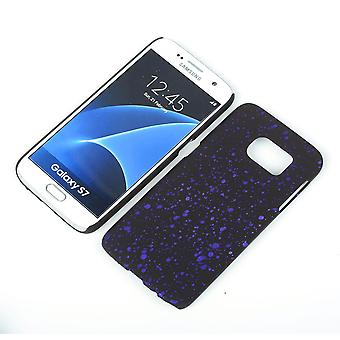 Cell phone cover case bumper shell for Samsung Galaxy S7 3D star purple