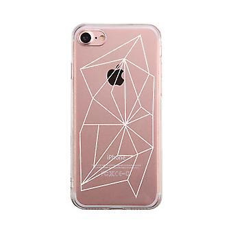 Geometric Pattern Transparent Phone Case Cute Clear Phonecase