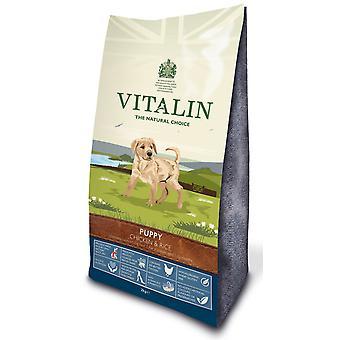 Vitalin naturlige hvalp kylling & ris 6kg