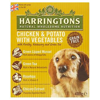 Harringtons våd kylling & kartoffel 400g (Pack af 8)