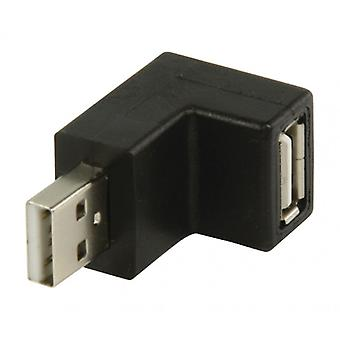 ValueLine angle adapter for USB 2.0, USB A male-USB A female 270 °