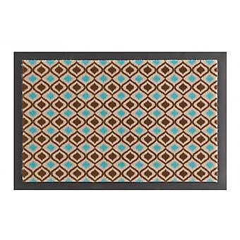 Doormat dirt trapping pad retro chic turquoise Brown 40 x 60 cm