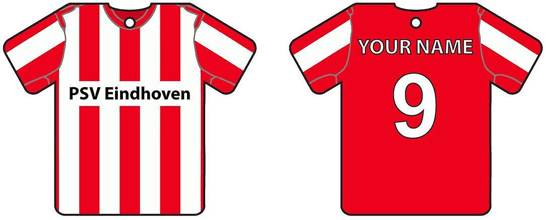 Personalised PSV Eindhoven Football Shirt Car Air Freshener