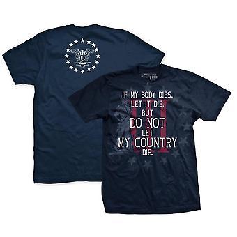 Ranger op tre Percenter hvis min krop dør T-Shirt-Navy
