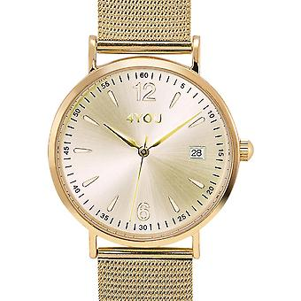 4YOU Herre ur wrist watch analog quartz rustfrit stål 250001015