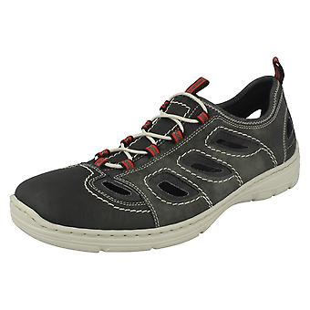 Mens Rieker Casual Shoes With Cut Out Detail 15285