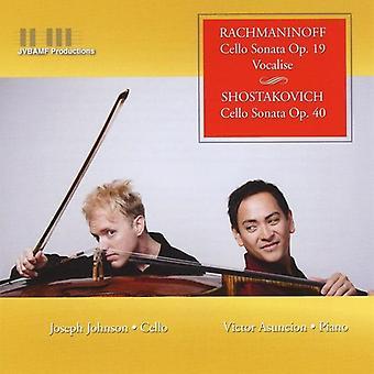 Joseph Johnson & Victor Asuncion - Rachmaninoff: Cello Sonata, Op. 19; Vocalise; Shostakovich: Cello Sonata, Op. 10 [CD] USA import