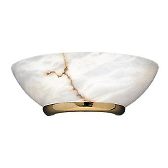 Leds C4 Aplique 1xE27 Máximo 60W Oro Alabastro y Blanco (Home , Lighting , Wall sconces)