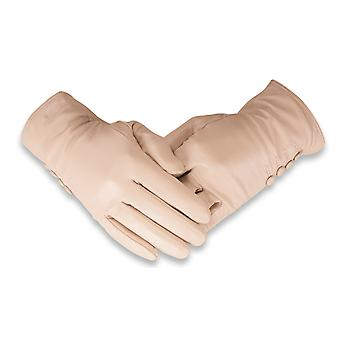 Quivano Ladies Soft Real Leather Gloves Four Button Genuine Womens 323-200