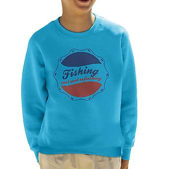 Fishing Cool And Refreshing Pepsi Logo Kid's Sweatshirt