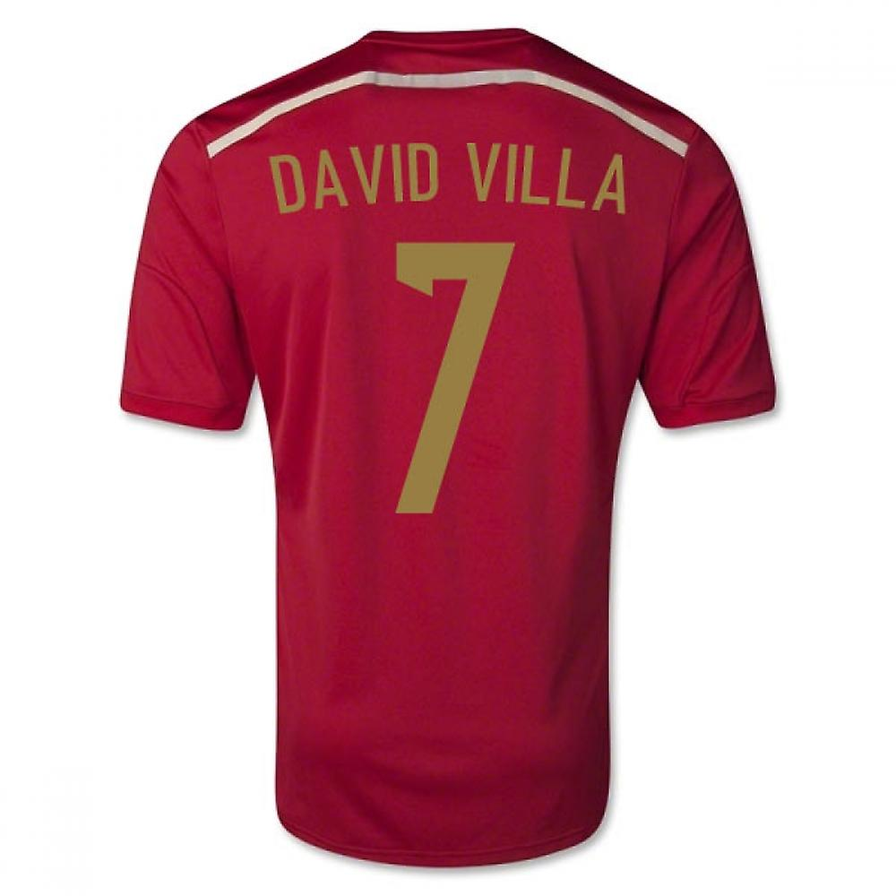 2014-15 Spanien World Cup tröja (David Villa 7) - Barn