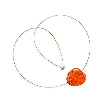 Amber necklace gold plated necklace with pendant RONNY