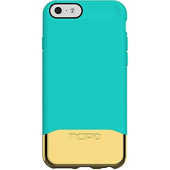 Incipio Edge Chrome ammortizzante caso per Apple iPhone 6/6S-Teal/oro
