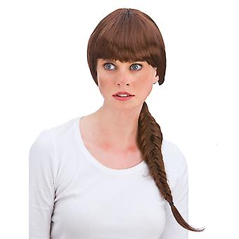Wicked Ladies Heroine Long Fishtail Plait with Fringe Wig Accessory