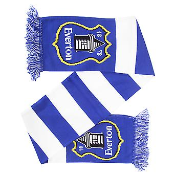 Everton FC Official Knitted Football Bar Scarf