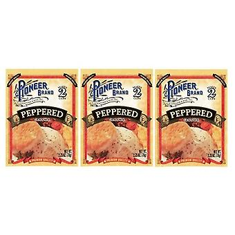 Pioneer Brand Peppered Gravy Mix 3 Packet Pack