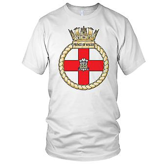 Royal Navy HMS Prince Of Wales Ladies T Shirt
