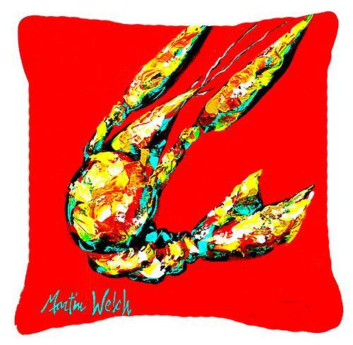 Les écrevisses survolez toile tissu oreiller décoratif
