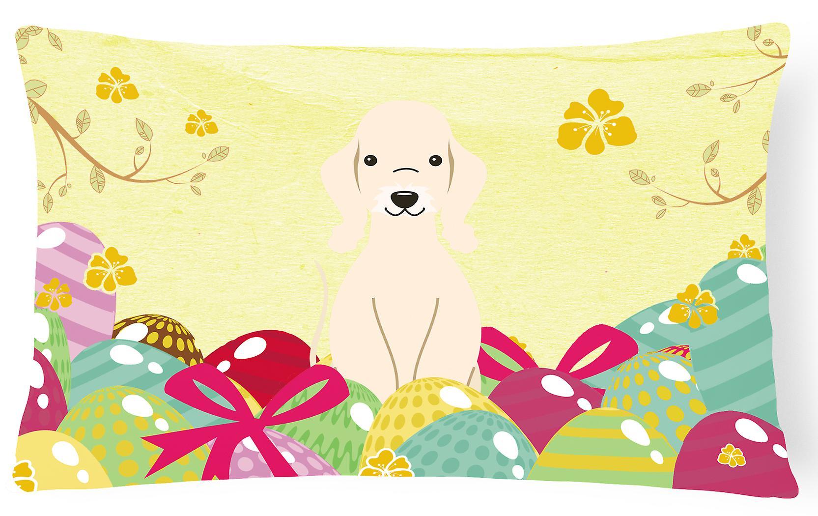 Pâques Oeufs De Bedlington Oreiller Terrier Décoratif Tissu Sandy Toile QrxWdeBoC