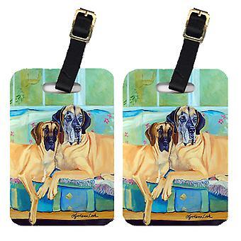 Carolines Treasures  7280BT Pair of 2 Great Dane Luggage Tags