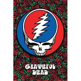 Taknemmelig døde - roser plakat plakat Print