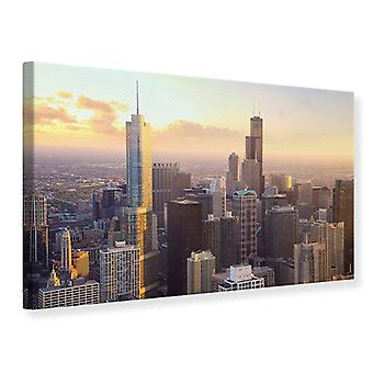 Canvas Print Skyline Chicago
