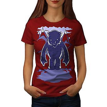 White Bear tegneserie kvinner RedT-skjorte   Wellcoda