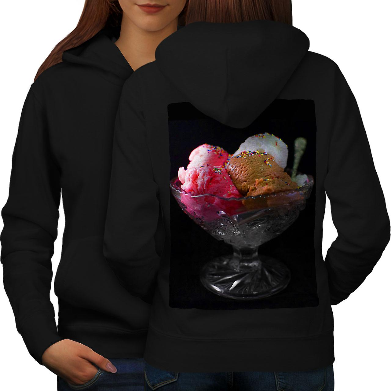 Crème glacée Photo femmes froides noirHoodie dos
