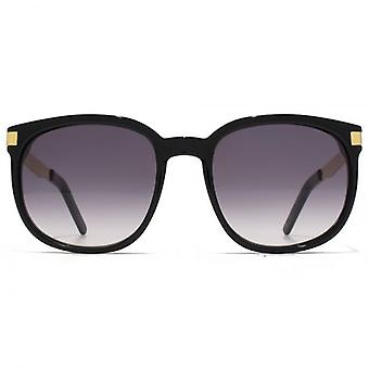 Wildfox Geena Sunglasses In Black Gold Gradient Grey