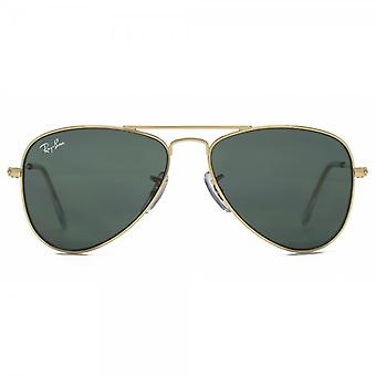 Ray-Ban Junior Aviator Sunglasses In Gold Green