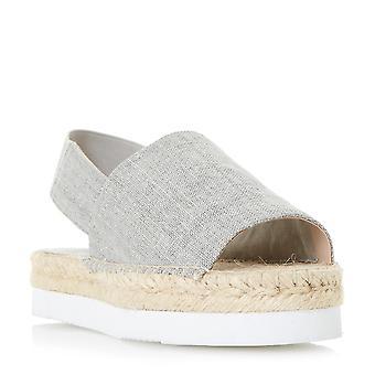 Dune dames LUCINDIE Flatform Espadrille sandale en Taupe