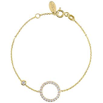 Latelita Halo Circle Bracelet Gold CZ Delicate Jewellery Bridesmaid Gifts Womens