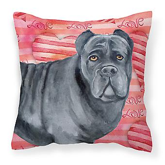 Carolines Treasures  BB9781PW1414 Cane Corso Love Fabric Decorative Pillow
