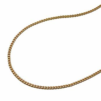 Thin curb chain gold plated 45cm necklace