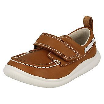 Мальчики Clarks случайные лодки стиль обуви облака Snap