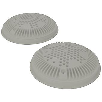 Hayward WG1030AVGRPAK2 Dual Suction Flow Drain Cover and Frame - Gray