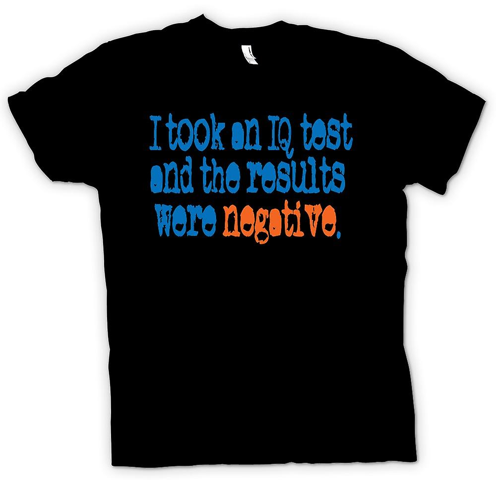 Womens T-shirt - I Took An IQ Test And The Results Were Negative