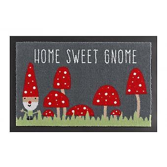 Zerbino sporcizia intrappolamento pad casa dolce GNOME grigio rosso 40 x 60 cm