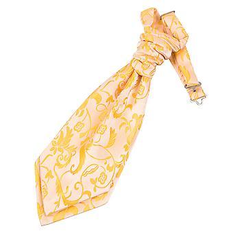 Gold Floral Pre-Tied Wedding Cravat for Boys