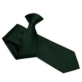 Mørk grøn Solid Check klippet på slanke slips
