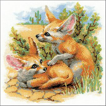 Desert Foxes Counted Cross Stitch Kit-10