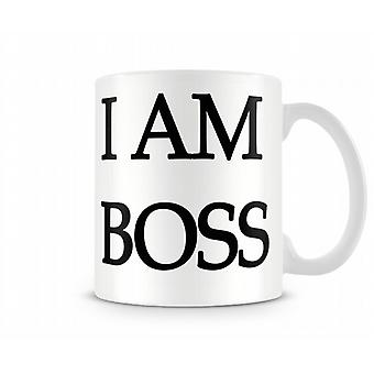 I Am Boss Printed Mug