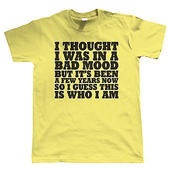 In A Bad Mood, Mens Funny T Shirt