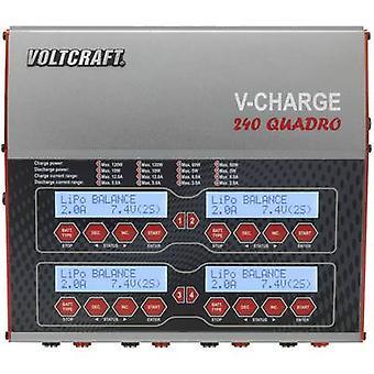 Scale model multifunction charger 12 V, 230 V 12 A VOLTCRAFT V-Charge 240 Quadro LiPolymer, LiFePO, Li-ion, LiHV, NiCd, NiMH, Lead-acid