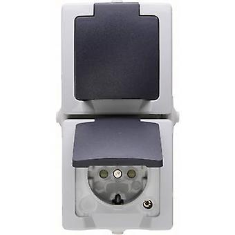 Kopp PG socket (+ lid) Nautic Grey 136956008
