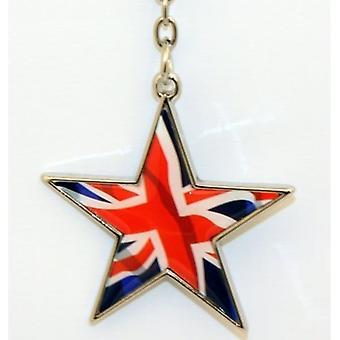 Union Jack Wear Union Jack Star Keyring